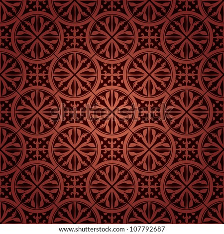 seamless gothic wallpaper - stock vector