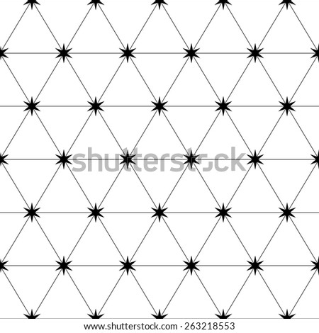 Seamless Grid Pattern. Abstract Triangle Background. Vector Regular Texture - stock vector