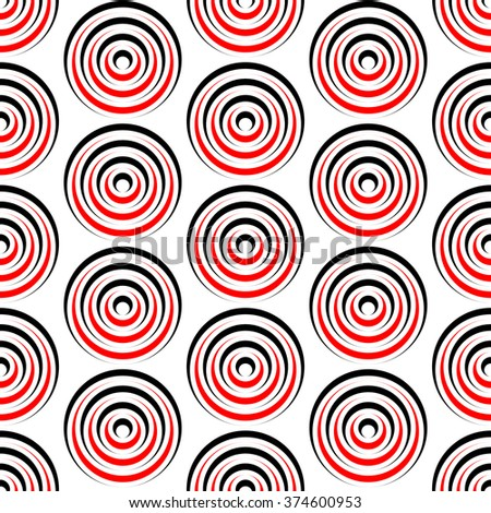 Seamless Grid Pattern. Vector Black and Red Background. Regular Texture - stock vector