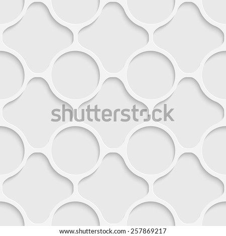 Seamless Grid Pattern. Vector Soft Background. Regular White Texture - stock vector