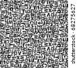 Seamless grunge background - alphabet - stock vector