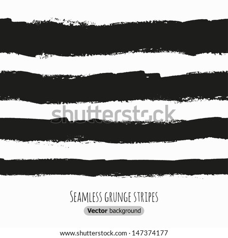 Seamless grunge black stripes. Vector illustration - stock vector