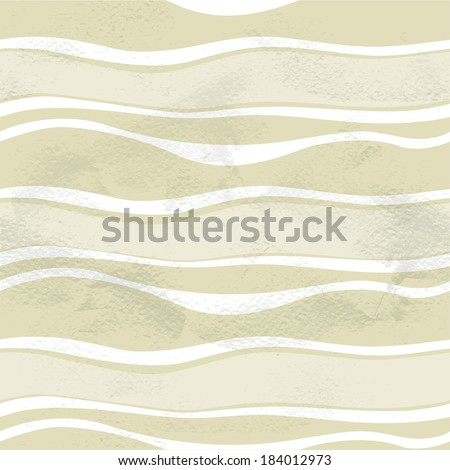 Seamless grungy vintage pattern with waves - stock vector