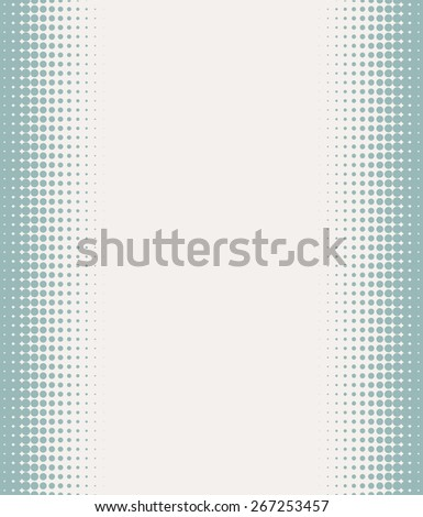 Seamless halftone background with pastel green color. Vector illustration - stock vector