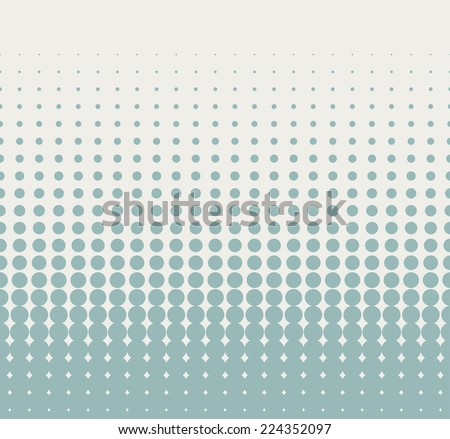 Seamless halftone background with retro blue color. Vector illustration - stock vector