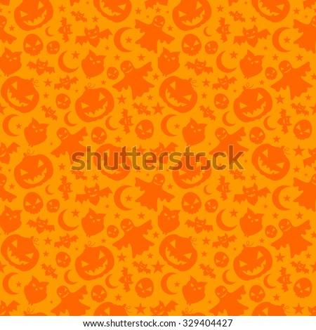 Seamless Halloween pattern - stock vector