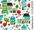 Seamless happy holidays retro christmas background pattern in vector - stock vector