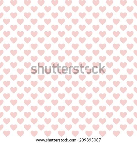 Seamless heart pattern love - stock vector