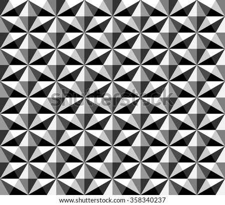 seamless hexagon pattern with monochrome.rhombus pattern - stock vector