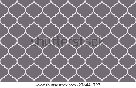 Seamless inverse black and white wide moroccan pattern vector - stock vector