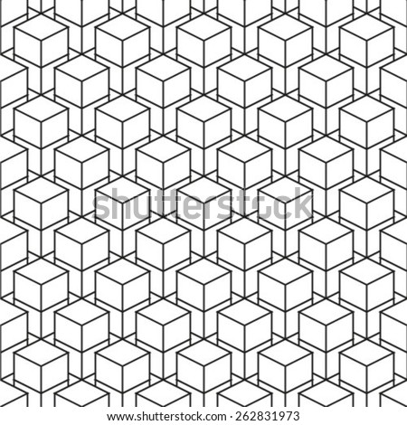 Seamless isometric pattern vector - stock vector