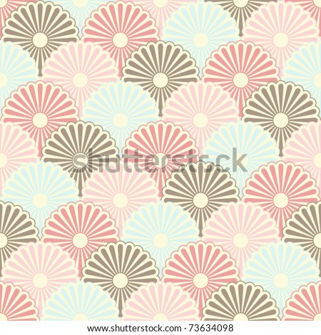 Seamless japanese vintage pattern - stock vector