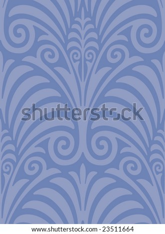 Seamless Jugendstil Web Background - stock vector