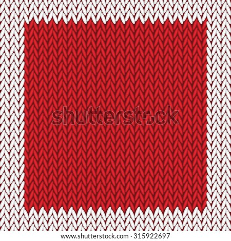Seamless knitted pattern. Woolen cloth - stock vector
