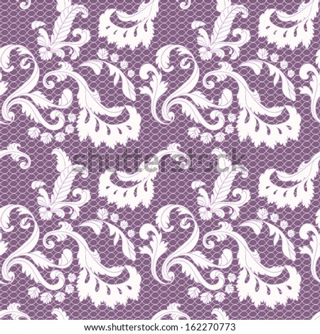 seamless  lace background - stock vector