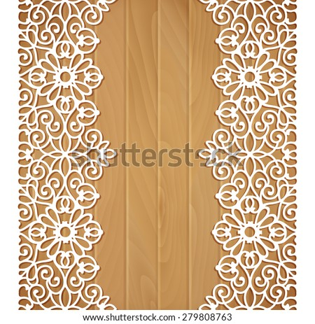 Seamless lace border - stock vector