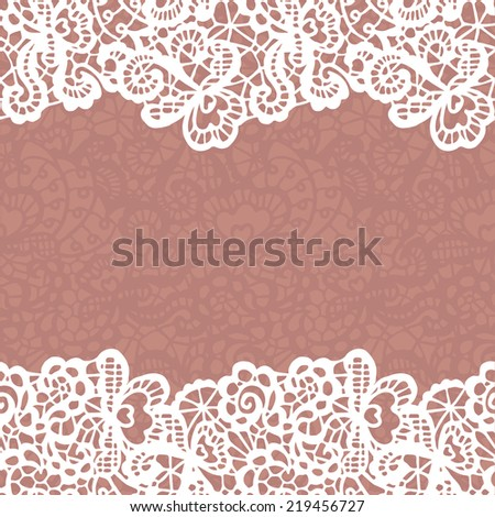 Seamless lace border. Vector illustration. - stock vector
