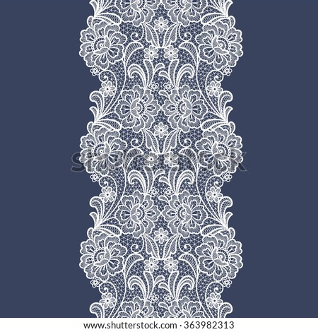 seamless  lace  floral   background. Vintage Lace Doily  - stock vector