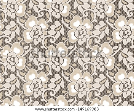 Seamless lace floral vintage - stock vector