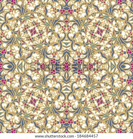 Seamless laced floral pattern  - stock vector