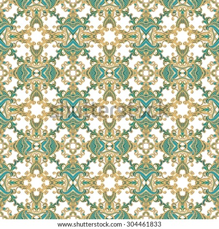 Seamless laced ornamental background - stock vector