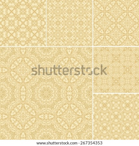 Seamless laced pattern (set) - stock vector