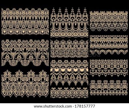 Seamless laced vector pattern - stock vector