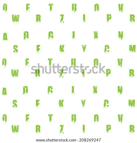 Seamless letters pattern - stock vector