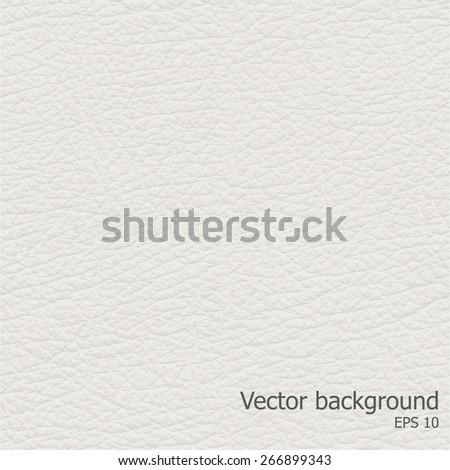 Seamless light leather texture, detalised Vector background. - stock vector