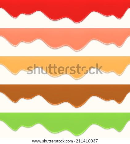 Seamless liquid decorations - stock vector