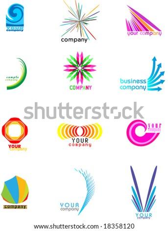seamless logo collection - stock vector