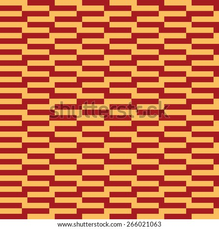 Seamless luxury red and gold op art rectangle pattern vector - stock vector
