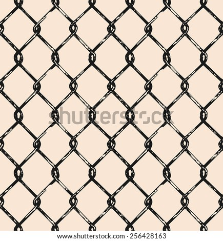 Seamless mesh. Doodle style - stock vector