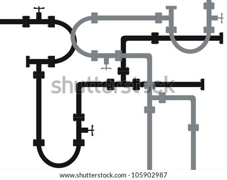 Seamless metal pipe - stock vector