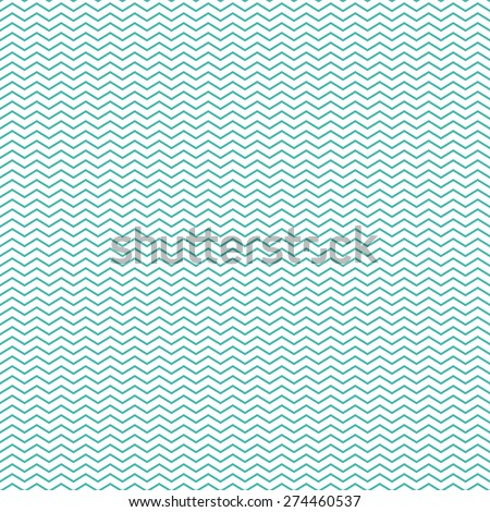 Seamless mint and white zig zag pattern vector - stock vector