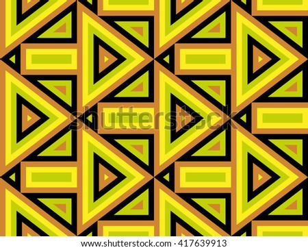 Seamless Modern Pattern with Arrows and Rhombuses. Vector Background for Textile Design. Geometric Abstract Texture - stock vector