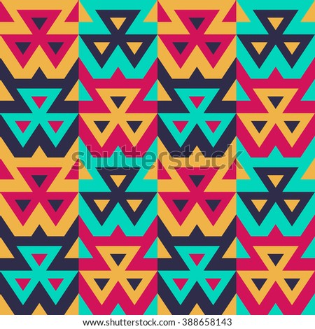 Seamless Modern Triangle Pattern. Vector Background for Textile Design. Geometric Abstract Texture - stock vector