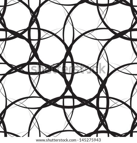Seamless Monochrome Background - stock vector