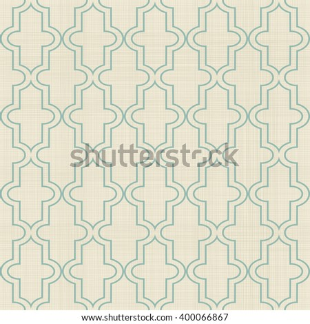 Seamless Moroccan pattern in turquoise and beige on texture background. Can be used for ceramic tile, wallpaper, linoleum, surface textures, web page background. - stock vector
