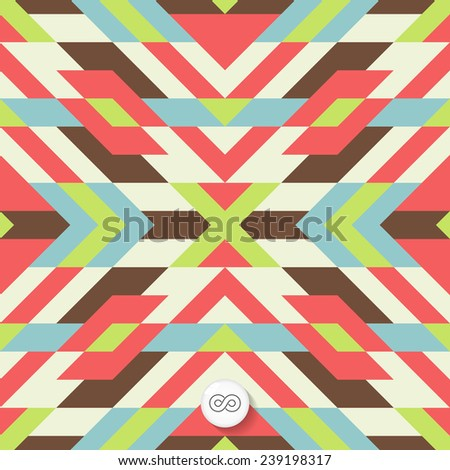Seamless mosaic pattern. Geometric background. Vector Illustration. Can be used for wallpapers, backgrounds, web sites.  - stock vector