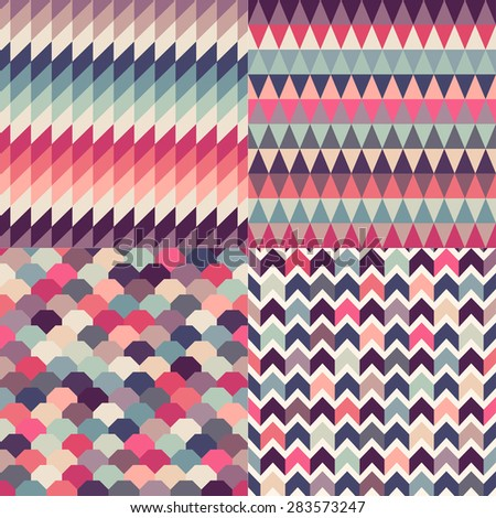 seamless multicolor geometric pattern textured background - stock vector
