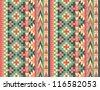 Seamless navajo pattern #1 - stock vector