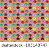 Seamless of Colorful Donuts - stock vector