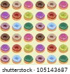Seamless of Donuts - stock vector