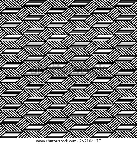 Seamless op art pattern. Geometric texture. Vector art. - stock vector