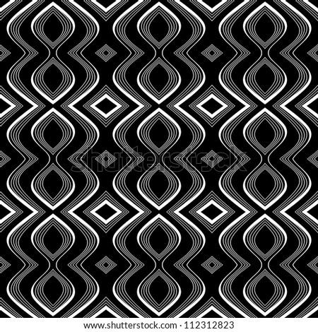 Seamless op art texture. Undulation illusion. Vector art. - stock vector