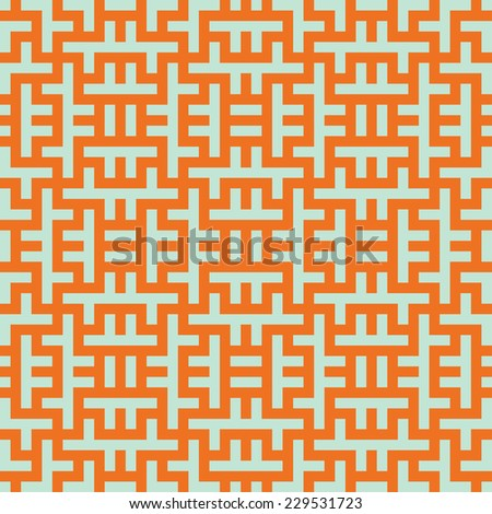 Seamless optical art mesh pattern - stock vector