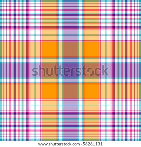 Seamless orange-yellow-violet checkered pattern (vector EPS 10) - stock vector
