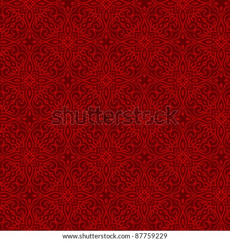 seamless oriental pattern background - stock vector