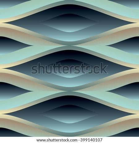 Seamless original lattice pattern design. Vector illustration - stock vector
